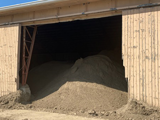 Dry Topsoil stored indoors